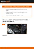 Kako zamenjati avtodel vzmeti spredaj na avtu Opel Corsa D – vodnik menjave