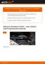 Kako zamenjati avtodel zavorne ploščice spredaj na avtu Opel Corsa D – vodnik menjave