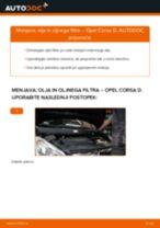 Kako zamenjati avtodel motorna olja in filter na avtu Opel Corsa D – vodnik menjave