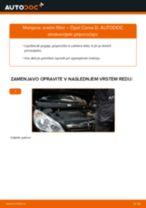 PDF priročnik za zamenjavo: Zracni filter OPEL Corsa D Hatchback (S07)