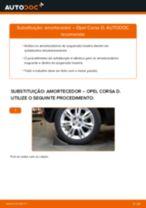 Como mudar e ajustar Amortecedor de suspensão OPEL CORSA: tutorial pdf