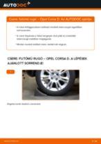 Hátsó futómű rugó-csere Opel Corsa D gépkocsin – Útmutató