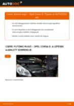 Elülső futómű rugó-csere Opel Corsa D gépkocsin – Útmutató
