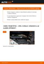 Elülső fékbetétek-csere Opel Corsa D gépkocsin – Útmutató