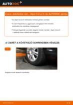 Elülső stabilizátor rúd-csere Opel Corsa D gépkocsin – Útmutató