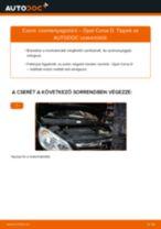 Üzemanyagszűrő-csere Opel Corsa D gépkocsin – Útmutató