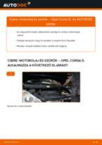 Motorolaj és szűrők-csere Opel Corsa D gépkocsin – Útmutató