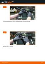 Elülső ablaktörlő lapát-csere Opel Corsa D gépkocsin – Útmutató