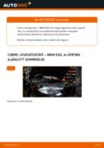 Levegőszűrő-csere BMW E82 gépkocsin – Útmutató