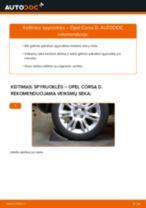 Pakeisti Gofruotoji Membrana Vairavimas OPEL CORSA: instrukcija