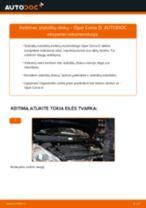 Kaip pakeisti Opel Corsa D stabdžių diskų: priekis - keitimo instrukcija