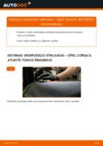 Automechanikų rekomendacijos OPEL Opel Corsa C 1.0 (F08, F68) Bagazines Amortizatorius keitimui