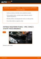 Kaip pakeisti Opel Corsa D pakaitinimo žvakių - keitimo instrukcija