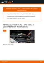 Kaip pakeisti Opel Corsa D variklio alyvos ir alyvos filtra - keitimo instrukcija