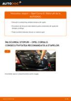 Cum să schimbați: stopuri la Opel Corsa D   Ghid de înlocuire