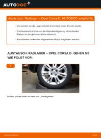 Wie der Wechsel durchführt wird: Radlager 1.3 CDTI (L08, L68) Opel Corsa D tauschen