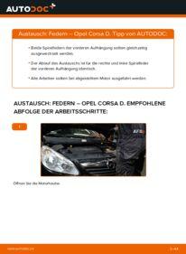 Wie der Wechsel durchführt wird: Federn 1.3 CDTI (L08, L68) Opel Corsa D tauschen