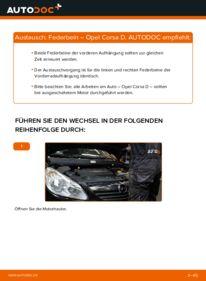 Wie der Wechsel durchführt wird: Stoßdämpfer 1.3 CDTI (L08, L68) Opel Corsa D tauschen
