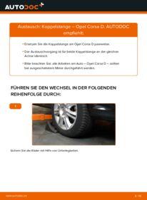 Wie der Wechsel durchführt wird: Koppelstange 1.3 CDTI (L08, L68) Opel Corsa D tauschen
