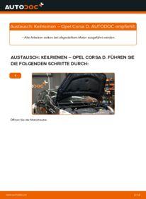 Wie der Wechsel durchführt wird: Keilrippenriemen 1.3 CDTI (L08, L68) Opel Corsa D tauschen