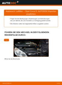 Wie der Wechsel durchführt wird: Luftfilter 1.3 CDTI (L08, L68) Opel Corsa D tauschen