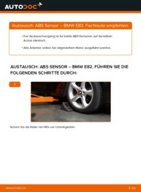 Wie der Wechsel durchführt wird: ABS Sensor 120d 2.0 BMW E82 tauschen