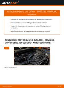 Wie der Wechsel durchführt wird: Ölfilter 120d 2.0 BMW E82 tauschen