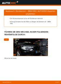 Wie der Wechsel durchführt wird: Zündkerzen 120d 2.0 BMW E82 tauschen