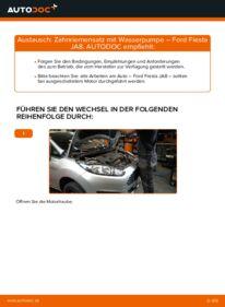Wie der Wechsel durchführt wird: Wasserpumpe + Zahnriemensatz 1.25 Ford Fiesta Mk6 tauschen