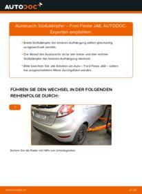 Wie der Wechsel durchführt wird: Stoßdämpfer 1.25 Ford Fiesta Mk6 tauschen