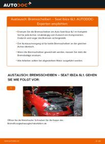 Wie der Wechsel durchführt wird: Bremsscheiben 1.9 TDI Seat Ibiza 6L1 tauschen