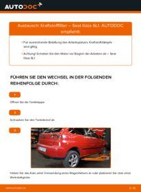 Wie der Wechsel durchführt wird: Kraftstofffilter 1.9 TDI Seat Ibiza 6L1 tauschen