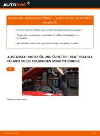 Wie der Wechsel durchführt wird: Ölfilter 1.9 TDI Seat Ibiza 6L1 tauschen