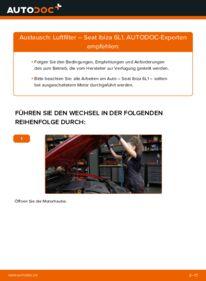 Wie der Wechsel durchführt wird: Luftfilter 1.9 TDI Seat Ibiza 6L1 tauschen