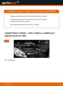 Hvordan man udfører udskiftning af: Fjeder på 1.3 CDTI (L08, L68) Opel Corsa D