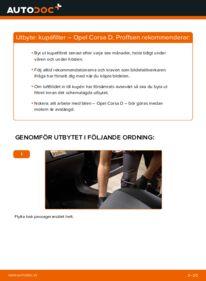 Så byter du Kupefilter på 1.3 CDTI (L08, L68) Opel Corsa D
