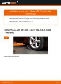 Slik bytter du ABS Sensor på BMW 1 SERIES