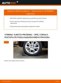 Ako vykonať výmenu: Tlmič pruzenia na 1.3 CDTI (L08, L68) Opel Corsa D