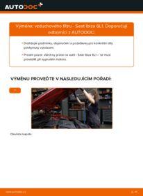 Jak provést výměnu: Vzduchovy filtr na 1.9 TDI Seat Ibiza 6l1
