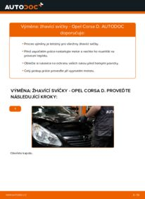 Jak provést výměnu: Żhavící svíčka na 1.3 CDTI (L08, L68) Opel Corsa D