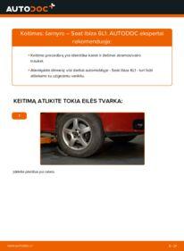 Kaip atlikti keitimą: 1.9 TDI Seat Ibiza 6l1 Šarnyras