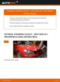 Kaip atlikti keitimą: 1.9 TDI Seat Ibiza 6l1 Amortizatoriaus Atraminis Guolis
