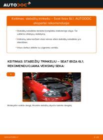 Kaip atlikti keitimą: 1.9 TDI Seat Ibiza 6l1 Stabdžių Kaladėlės