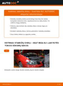 Kaip atlikti keitimą: 1.9 TDI Seat Ibiza 6l1 Stabdžių diskas