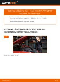 Kaip atlikti keitimą: 1.9 TDI Seat Ibiza 6l1 Uždegimo ritė