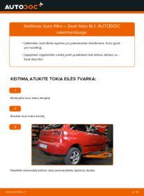 Kaip atlikti keitimą: 1.9 TDI Seat Ibiza 6l1 Kuro filtras