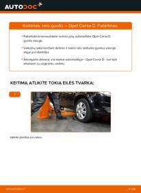 Kaip atlikti keitimą: 1.3 CDTI (L08, L68) Opel Corsa D Rato guolis