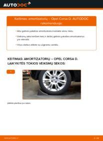 Kaip atlikti keitimą: 1.3 CDTI (L08, L68) Opel Corsa D Amortizatorius