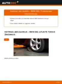 Kaip atlikti keitimą: 120d 2.0 BMW E82 Vairavimo dinamikos kontrolė