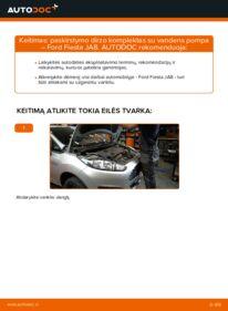 Kaip atlikti keitimą: 1.25 Ford Fiesta Mk6 Paskirstymo diržas / komplektas